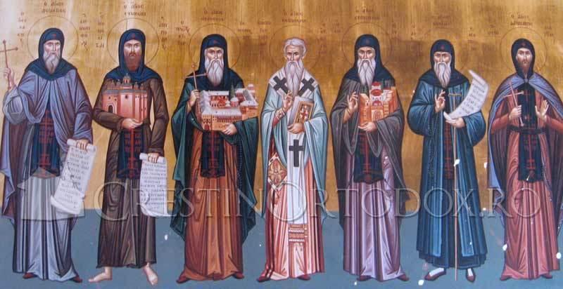 Manastirea Filoteu - Sfintii de la Filoteu