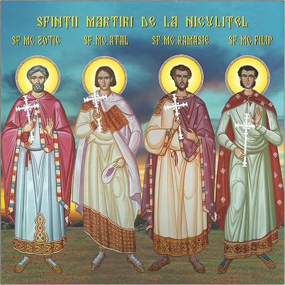 Sfintii Zotic, Atal, Camasie si Filip de la Niculitel