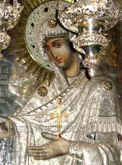 Icoana Maicii Domnului Gherontissa de la Manastirea Pantocrator