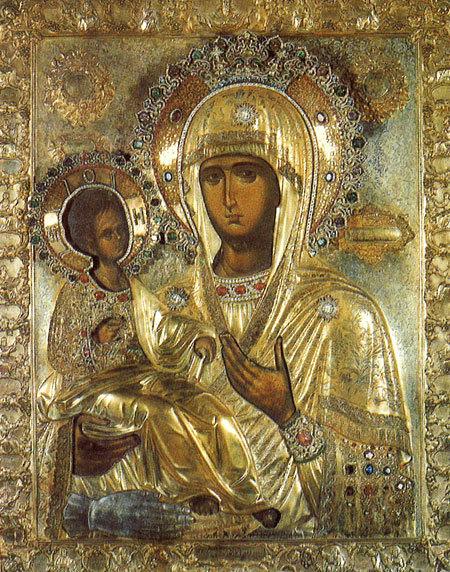 Manastirea Hilandar - Icoana Maicii Domnului Tricherousa