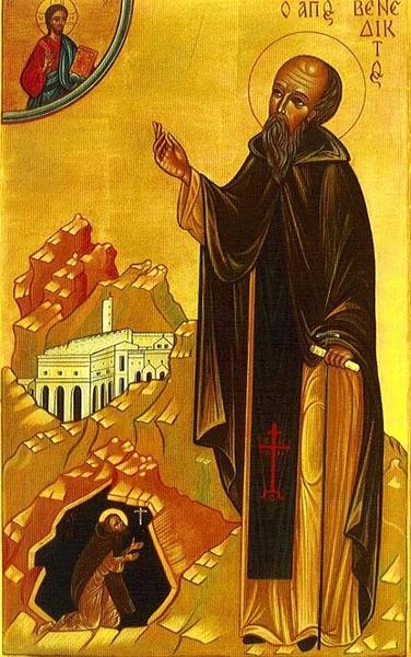 Acatistul Sfantului Benedict de Nursia