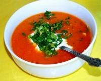 Supa de rosii cu fenicul