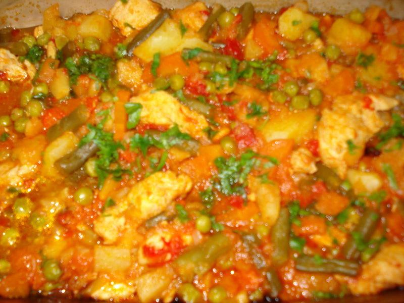 Tocanita de legume cu cartofi