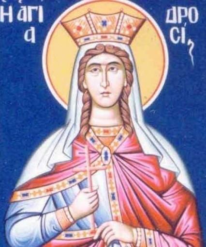 Sfanta Drosida, fiica imparatului Traian?