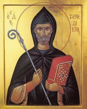 Chipul liturgic al Sfantului Benedict de Nursia