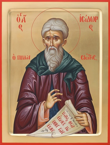 Sfantul Cuvios Isidor Pelusiotul