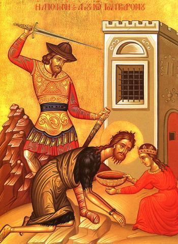 Canon de rugaciune la sarbatoarea taierii capului Sfantului Ioan Botezatorul