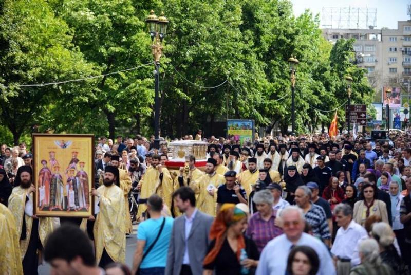 Procesiunea Calea Sfintilor cu ocazia sarbatorii Sfantului Dimitrie cel Nou