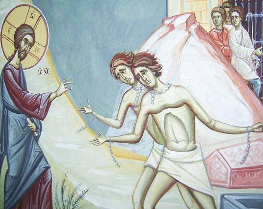 Mantuitorul a scos demonii din doi oameni din Gadara