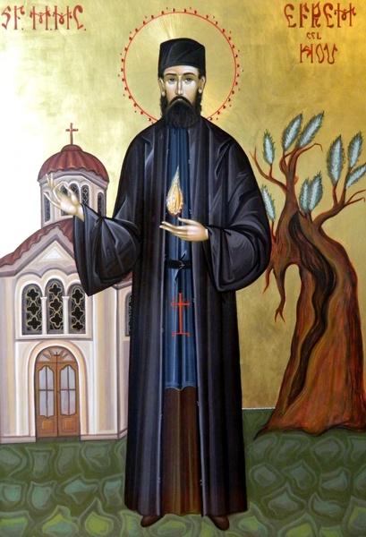 Acatistul Sfantului Efrem cel Nou pentru ridicarea din deznadejde ori mahnire