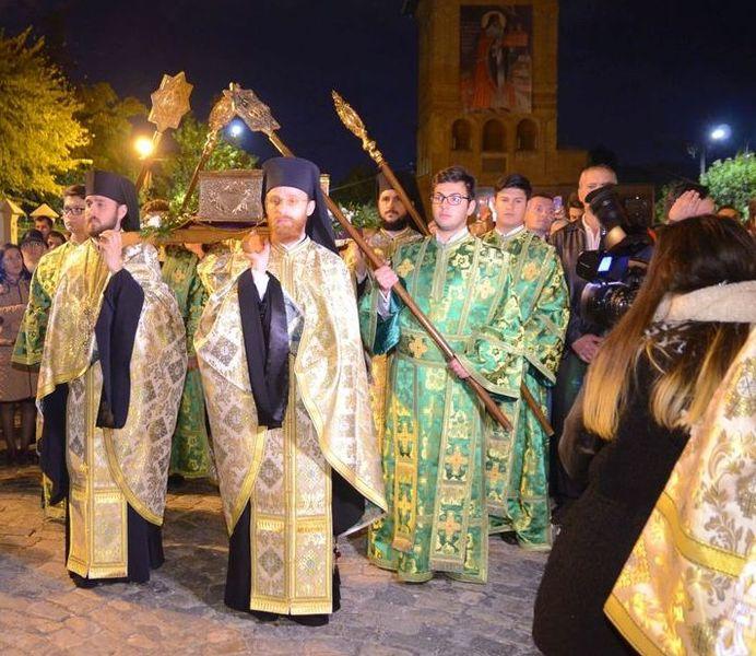 Procesiune la Patriarhie in ajunul sarbatorii Sfintei Parascheva