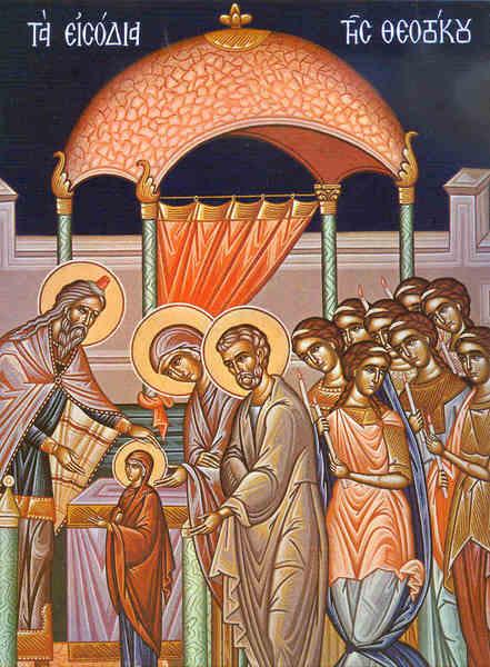 Viata ingereasca a Sfintei Fecioare Maria in Templu