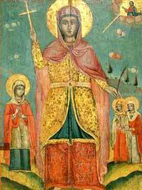 Sfanta Mucenita Sofia si cele trei fiice ale sale: Pistis, Elpis si Agapis