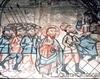 Biserica de lemn din Borza - Iisus in fata lui Irod