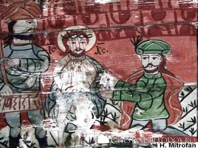 Biserica de lemn din Cublesu - Batjocorirea lui Iisus