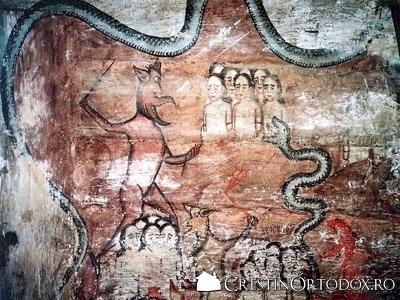 Biserica de lemn din Dobricu Lapusului - Chinurile iadului