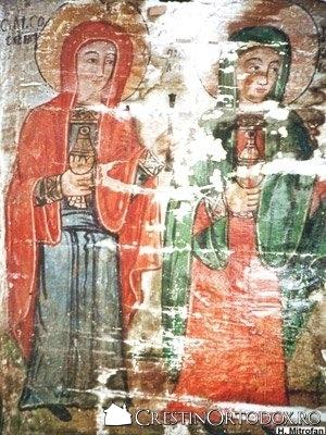 Biserica de lemn din Pausa - Femeile mironosite