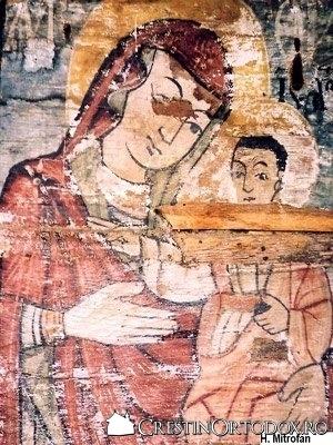 Biserica de lemn din Porumbeni - Fecioara Maria cu Pruncul