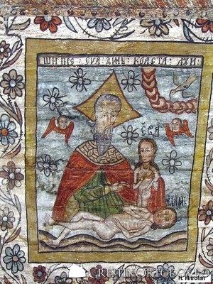 Biserica de lemn din Rogoz - Facerea Evei din coasta lui Adam