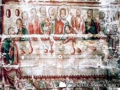 Biserica de lemn din Salisca - Cina cea de Taina