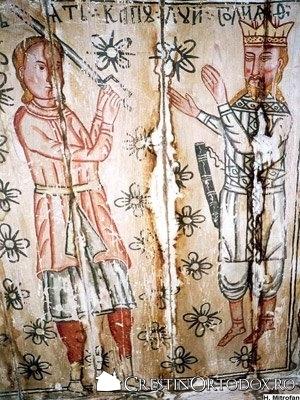 Biserica de lemn din Ungureni - David si Goliat