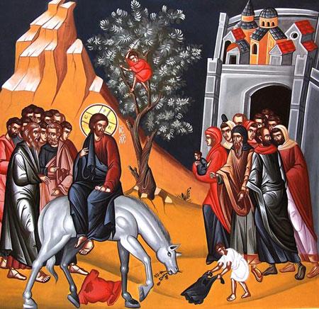 Explicarea icoanei Intrarii Domnului in Ierusalim