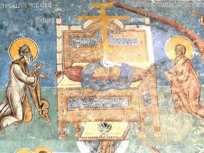 Manastirea Voronet - Tronul Etimasiei (detaliu din Judecata de Apoi)