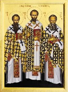 Vasilie cel Mare, Grigorie Cuvantatorul de Dumnezeu si Ioan Gura de Aur
