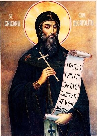 Sfantul Grigorie Decapolitul de la Manastirea Bistrita-Valcea