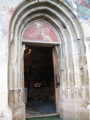 Manastirea Humor - Intrarea in pronaos