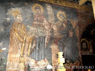 Manastirea Humor - Tabloul votiv (inchinarea Manastirii Humor lui Hristos)
