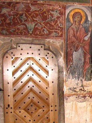 Manastirea Humor - Usa cu tinte din Gropnita