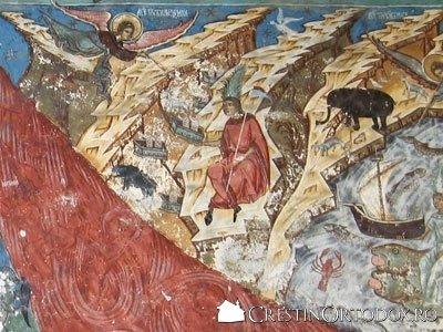 Manastirea Humor - Judecata de Apoi (detaliu - Invierea mortilor)
