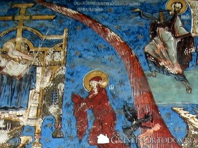 Manastirea Humor - Judecata de Apoi (detaliu - Maica Domnului)