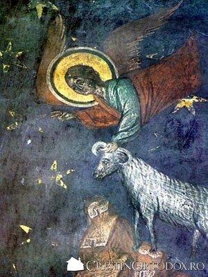Manastirea Balinesti - Jertfa lui Avraam (detaliu)