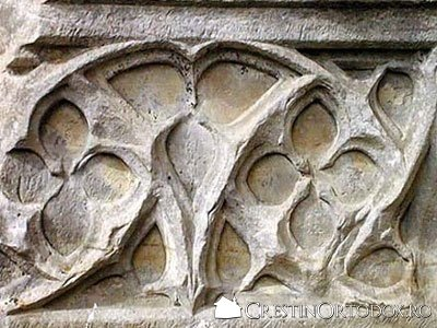 Manastirea Balinesti - Sculptura in piatra