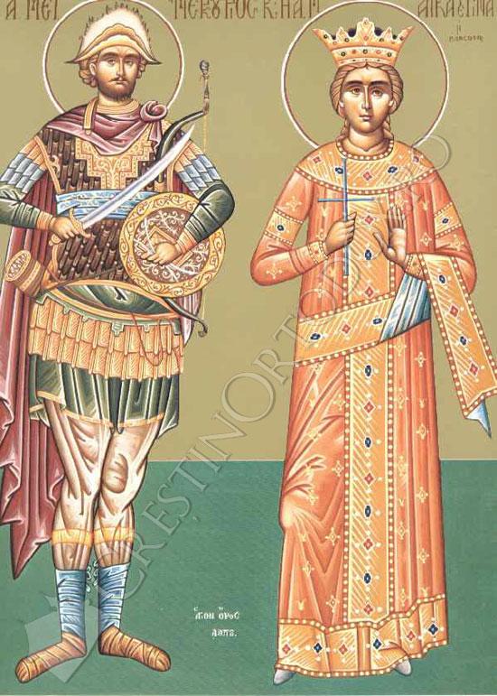 Sfantul Mercurie si Sfanta Ecaterina