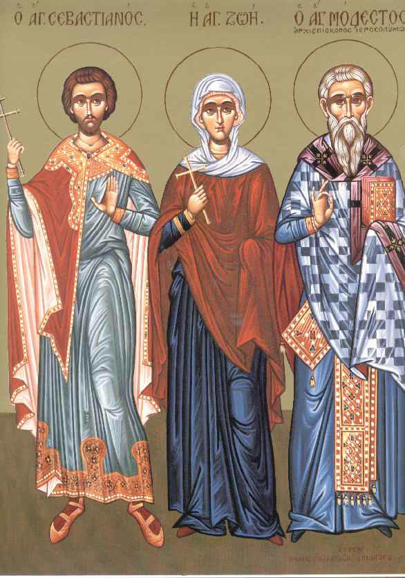 Sfintii Mucenici Sebastian si Zoe; Cuviosul Modest