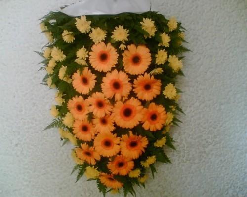 Jerba funerara din gerbera