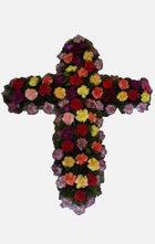 Aranjament funerar in forma de cruce
