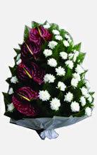 Jerba funera din anturium si crizantema