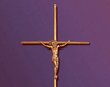 Crucifix metalic