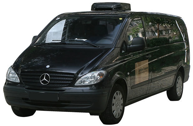 Transport funerar Mercedes