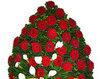 Coroana funerara din trandafiri si cale