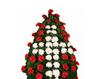 Coroana din flori in forma de cruce