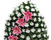 Coroana funerara din crizanteme