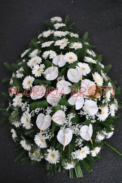 Coroana funerara gerbera si anturium