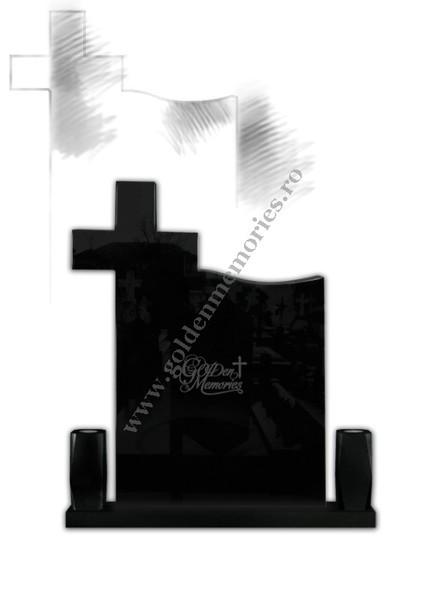 Monument funerar pagina carte - Negru
