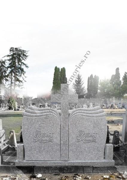 Monument funerar dublu