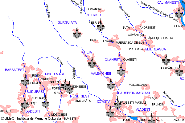 Schitul Pahomie (la cca. 12 km NV de sat)-CHEIA...